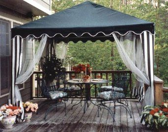 Amazon Com 10 Foot Square Gazebo Canopy With Screens And Pole Skirts Gazebos Sports Outdoors Gazebo Canopy Backyard Canopy Canopy Outdoor