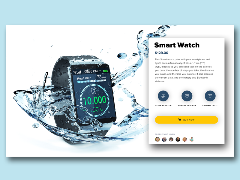 Smart Watch Banner Traveling by yourself, Smart watch