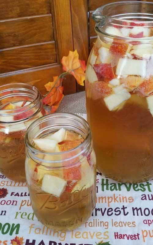 Autumn Hard Apple Cider Sangria #applecidersangriarecipe