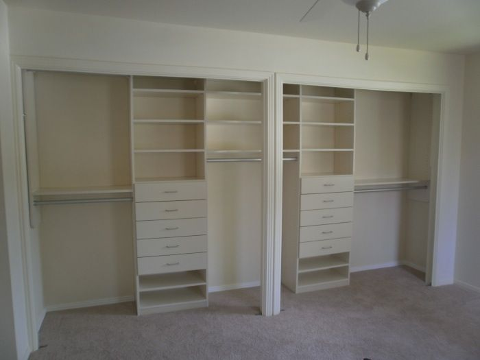 Double Closet Doors W One Opening Closet Remodel Double Closet