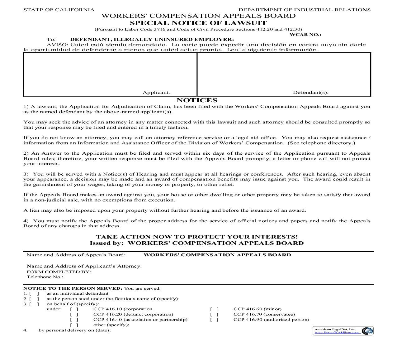 This Is A California Form That Can Be Used For General Within