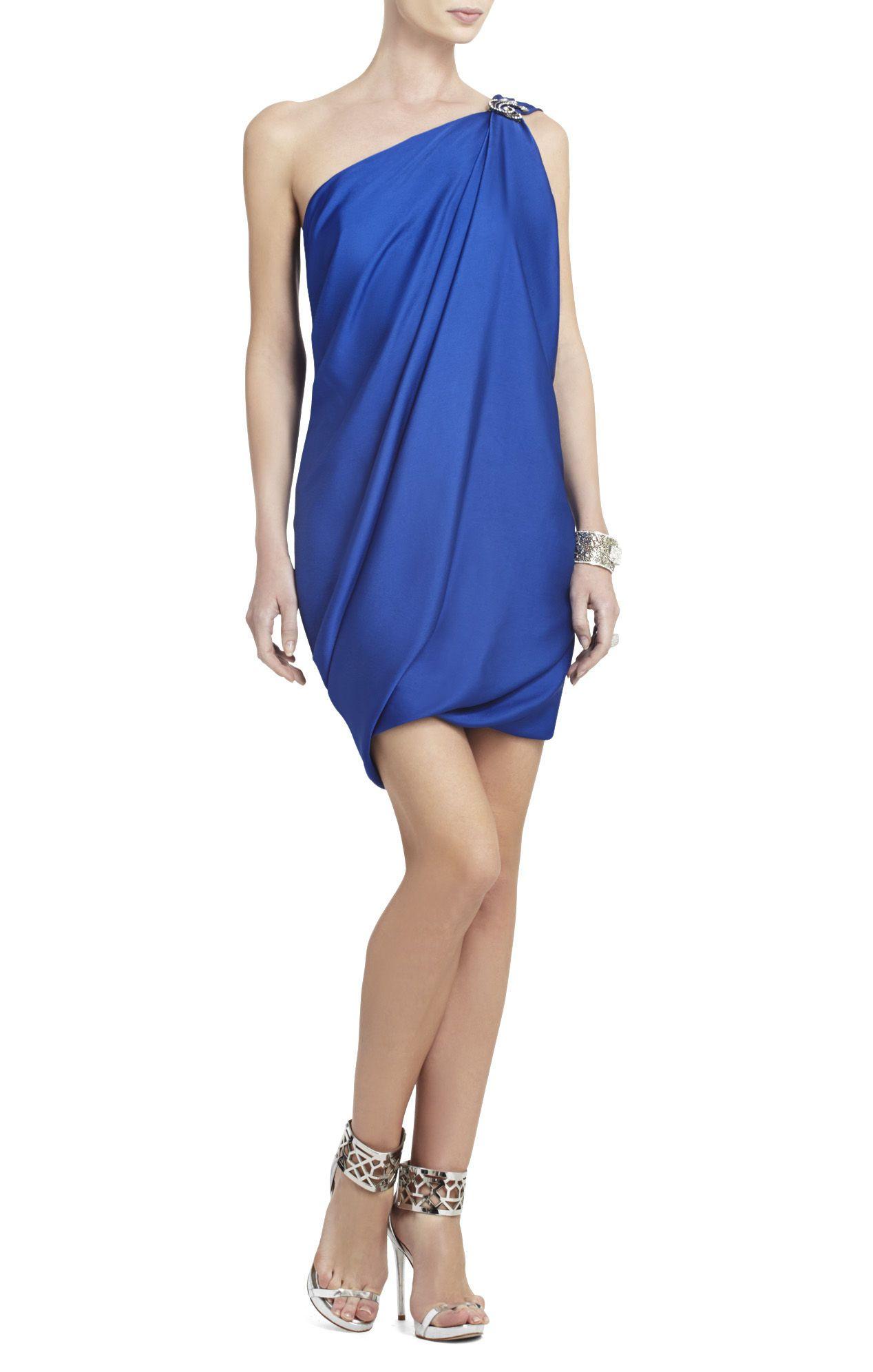 Draped Soirée Dress Shoulder De Robe Atla style Bcbg One 7PxHwH