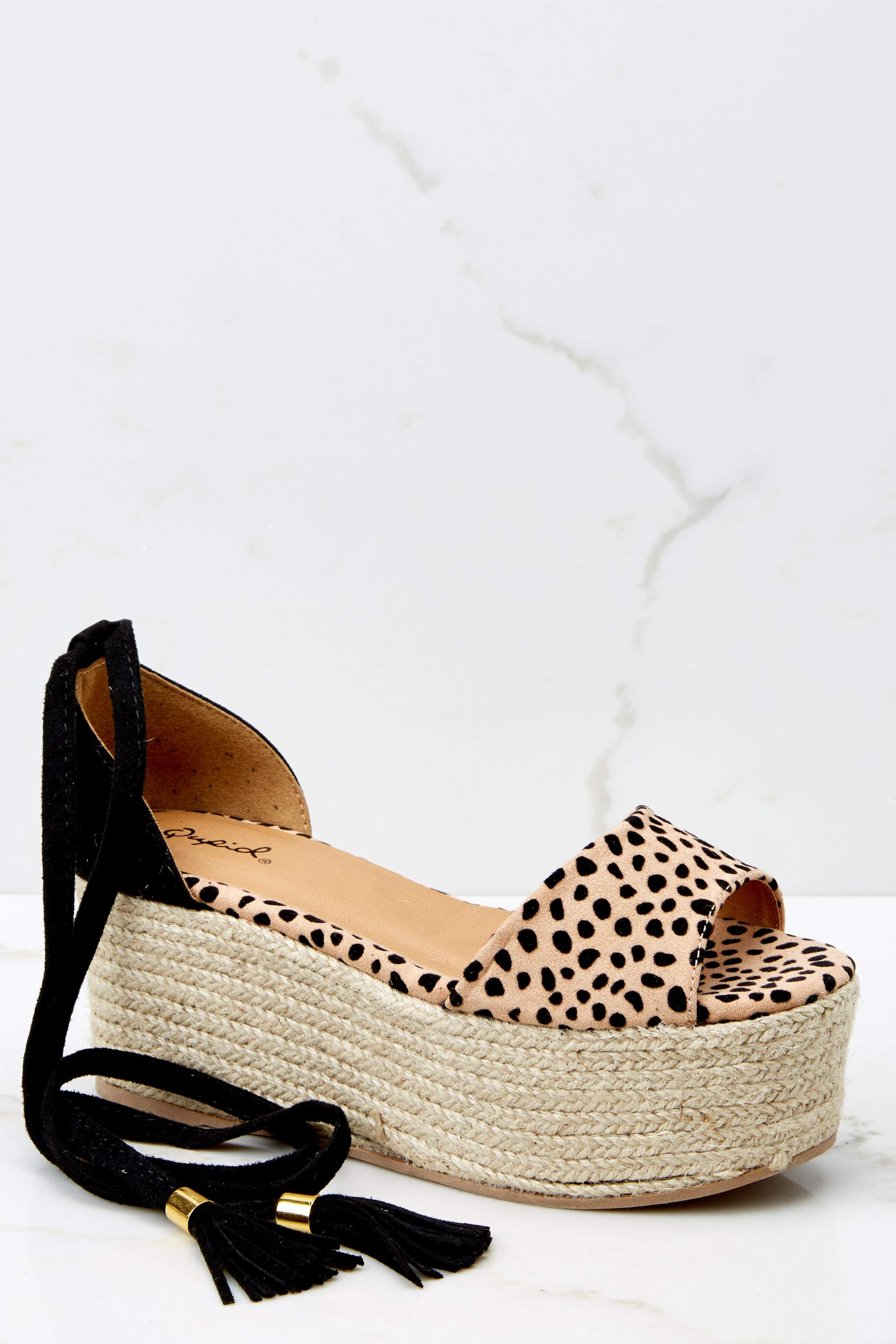Coy Brown Cheetah Print Sandals