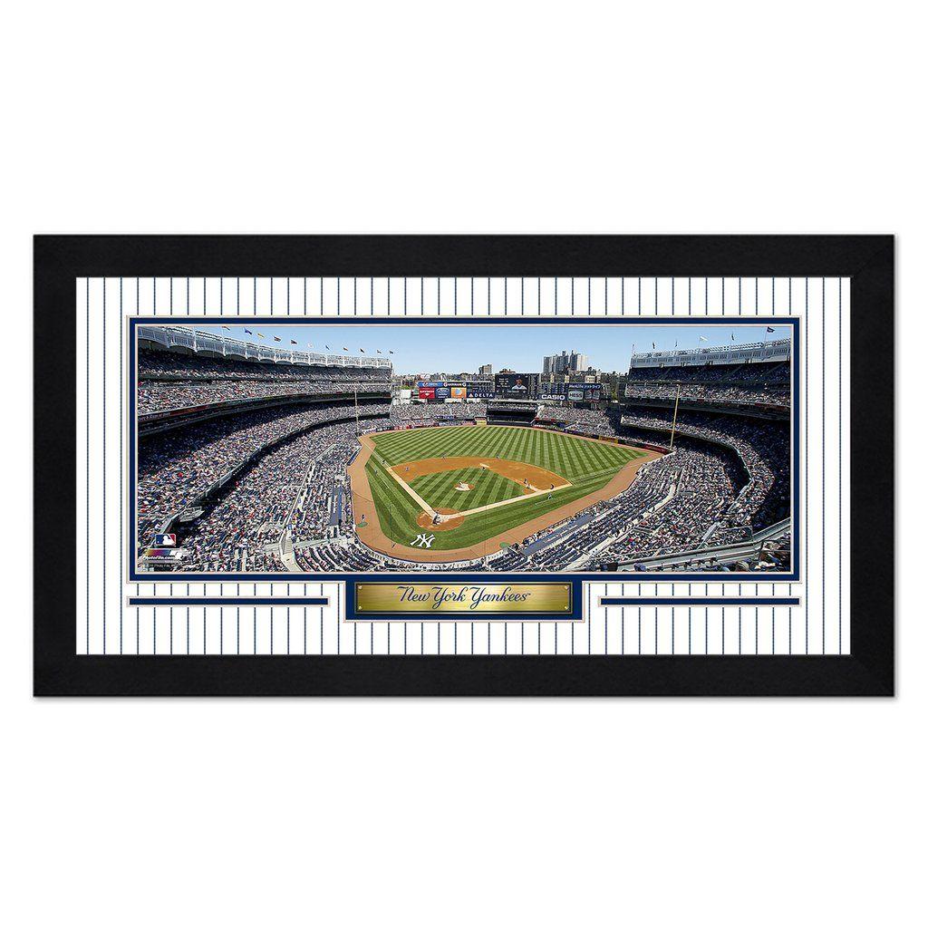 New York Yankees Print 13x7 Framed Yankee Stadium Design Special Order