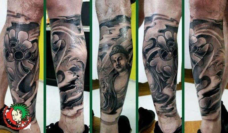 128 Tattoos Incredible Buddha Tattoo Designs Buddhist Tattoos Page 5 Sleeve Tattoos Half Sleeve Tattoos Designs Tattoo Sleeve Designs