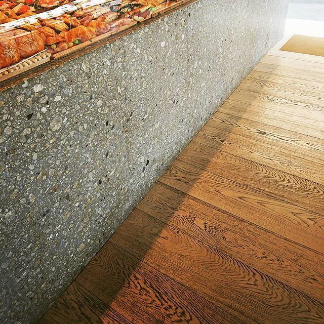 Wood Flooring And Terrazzo Countertop Wood Floors Terrazzo