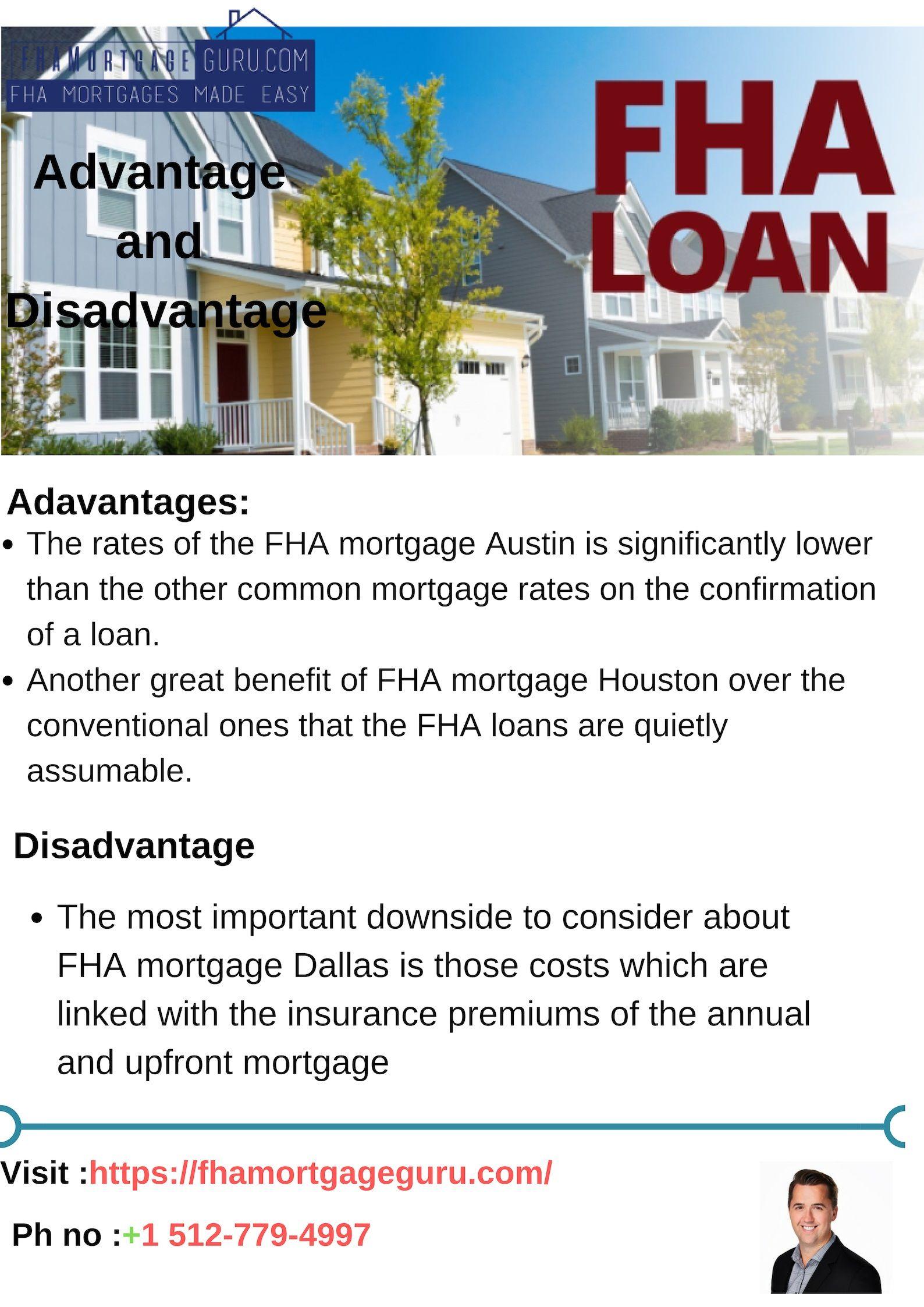 Advantage And Disadvantage Of Fha Loan Fha Mortgage Fha Loans Mortgage