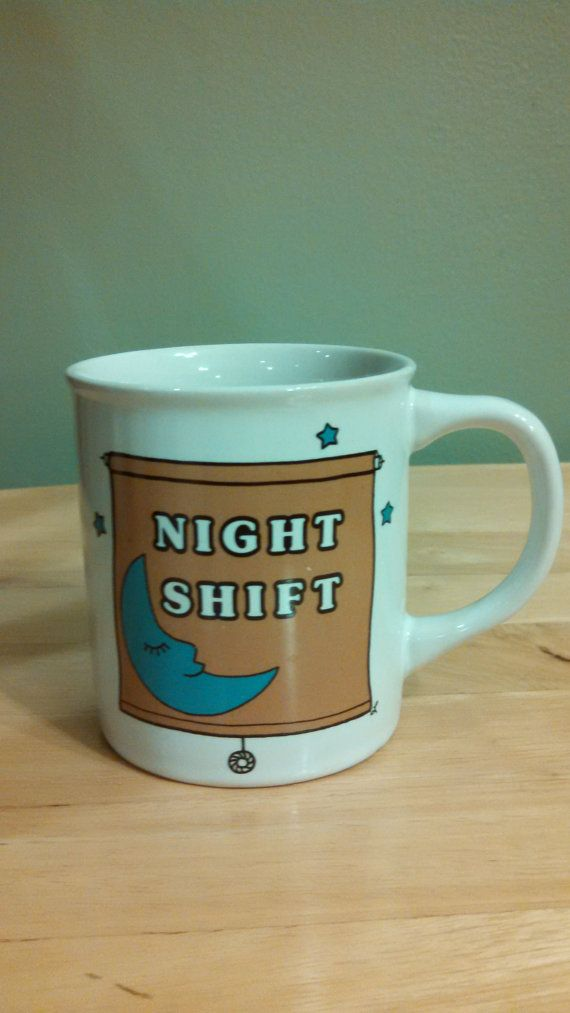 Vintage Night Shift Coffee Mug by CollectorsAgency on Etsy
