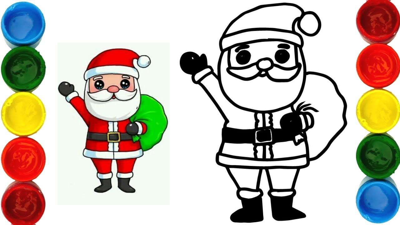 How To Draw Christmas Coloring Page With Singing Santa Claus In 2020 Christmas Coloring Pages Coloring Pages Christmas Colors