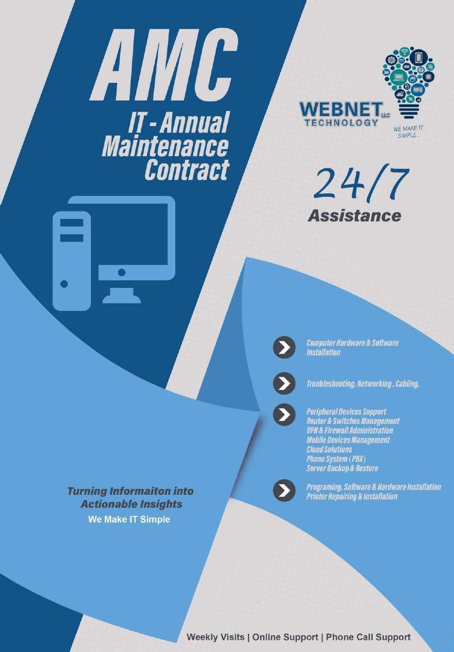 IT Annual Maintenance Contract Abu Dhabi | UAE | Dubai | Webnetech