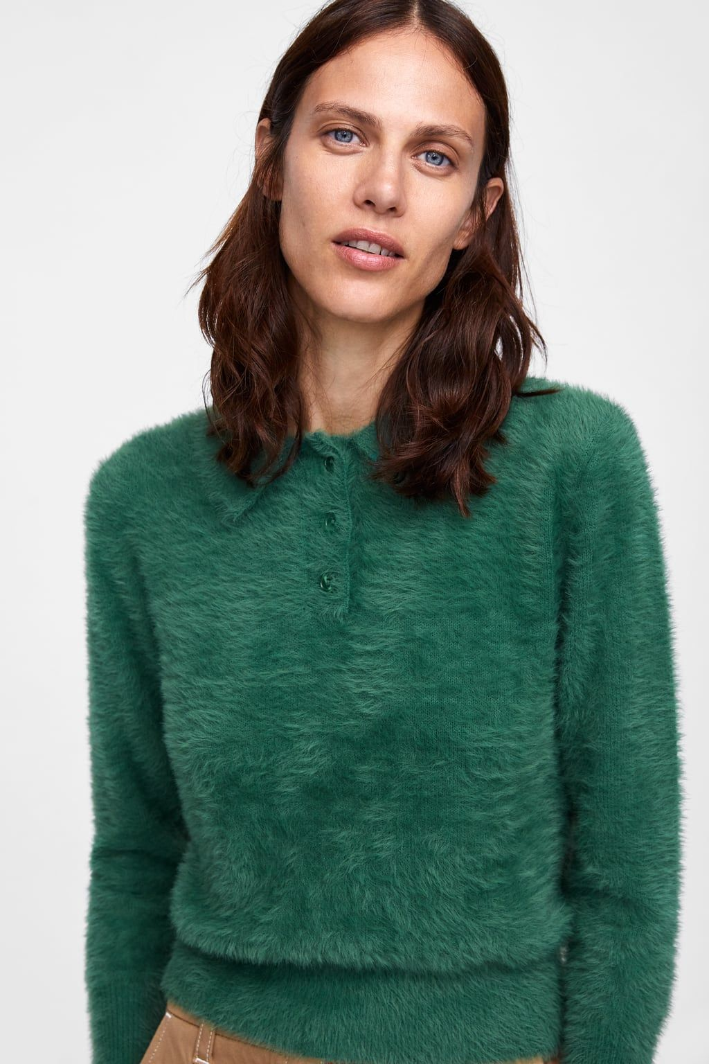 1c1ed4af Image 4 of TEXTURED POLO SWEATER from Zara | Seafever | Polo sweater ...