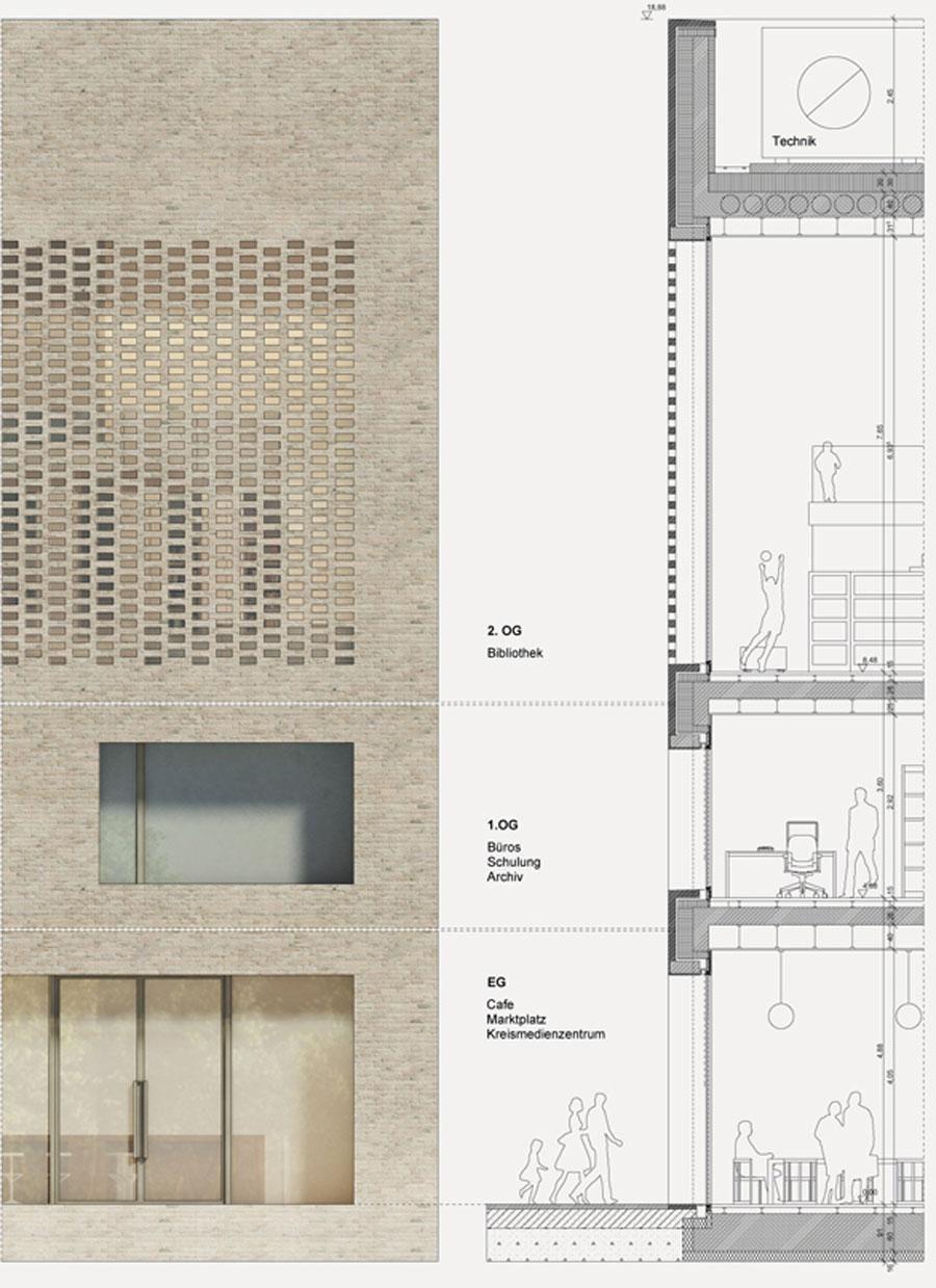 max dudler bibliothek heidenheim detail. Black Bedroom Furniture Sets. Home Design Ideas