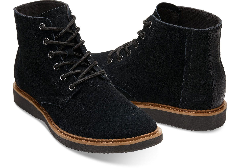 f9e1b0dc35c Black Suede Men's Porter Boots | TOMS® | clothes in 2019 | Boots ...
