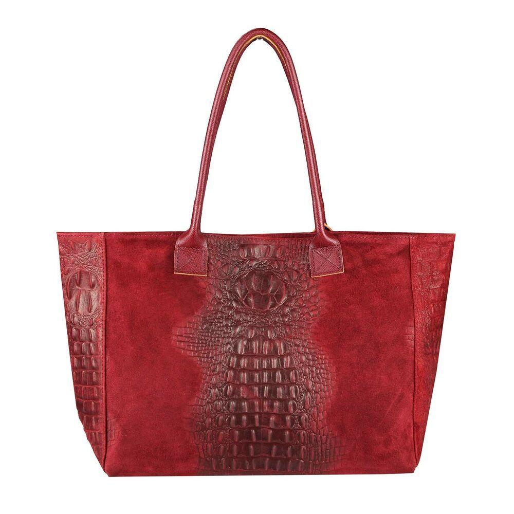 [Werbung] [Werbung]  BOLSO ITAL DE PIEL PARA MUJER CROCK A4 En relieve Shopper …