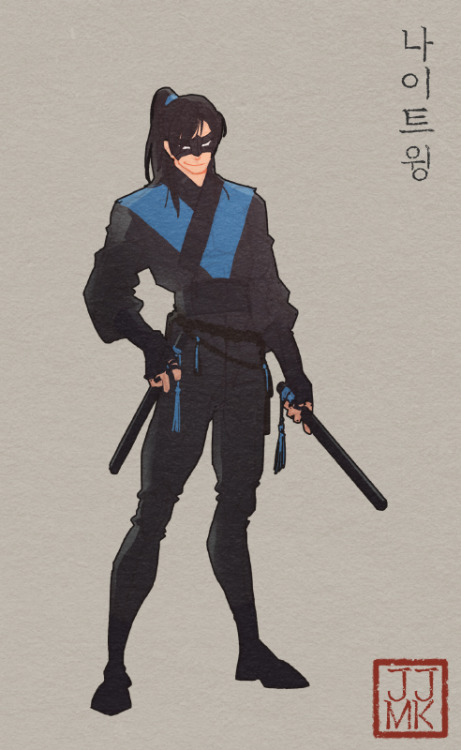 Nightwing Classic Korean Style - jjmk-jjmk on Tumblr #geekculture
