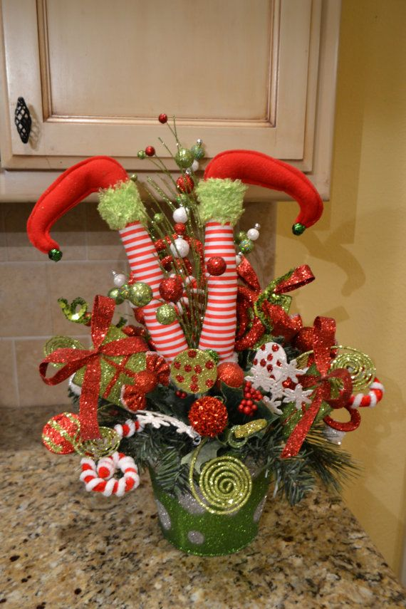 Whimsical elf feet arrangement by kristenscreations on