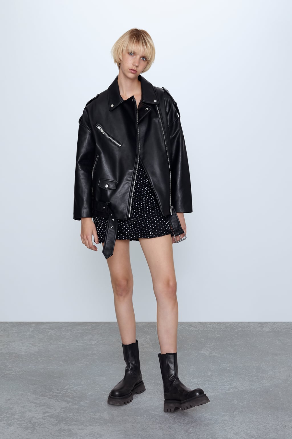 Faux leather oversize jacket in 2020 Oversized jacket