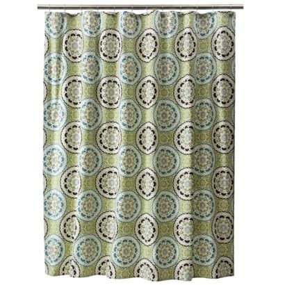 Going To Use These To Make Curtain In My Bedroom Love Love Love Medallion Shower Curtain Shower Curtain Curtains