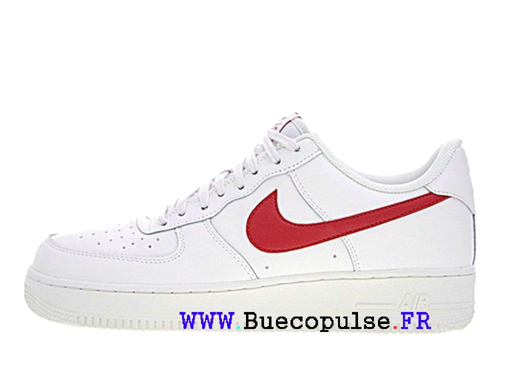 online retailer 691ad 61aeb Nike iD Air Force 1 Low Premium Lunar Chaussures Sportswear Pas Cher Pour  Homme Rouge blanc