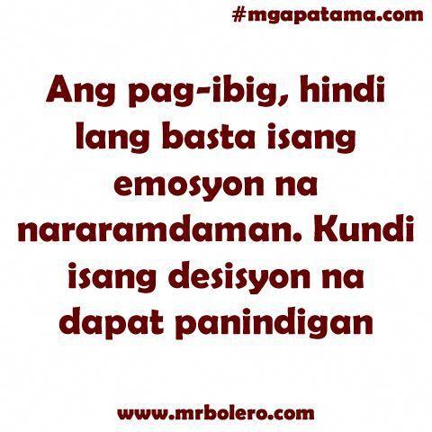 Tagalog Love Quotes - Tagalog Quotes - Love Quotes Tagalog | Mr.Bolero - Part 3 #Filipinotattoos