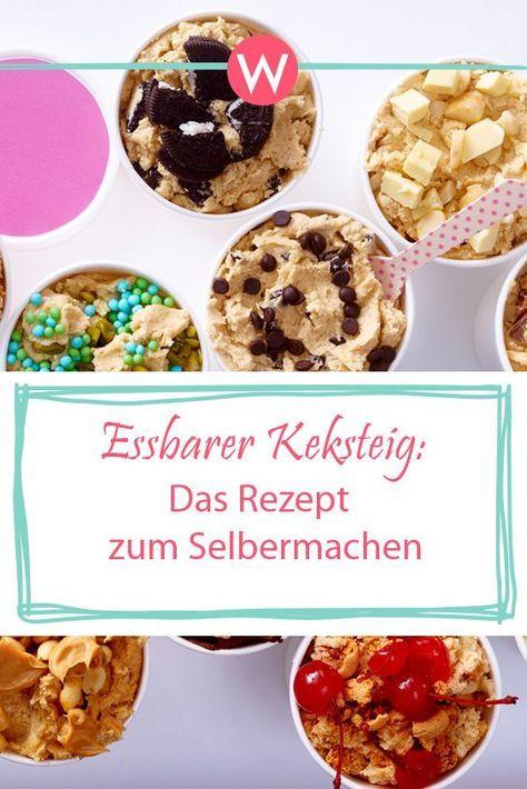 Cookie Dough Essbarer Keksteig Zum Selbermachen Essbarer Keksteig Keksteig Keksteig Rezept