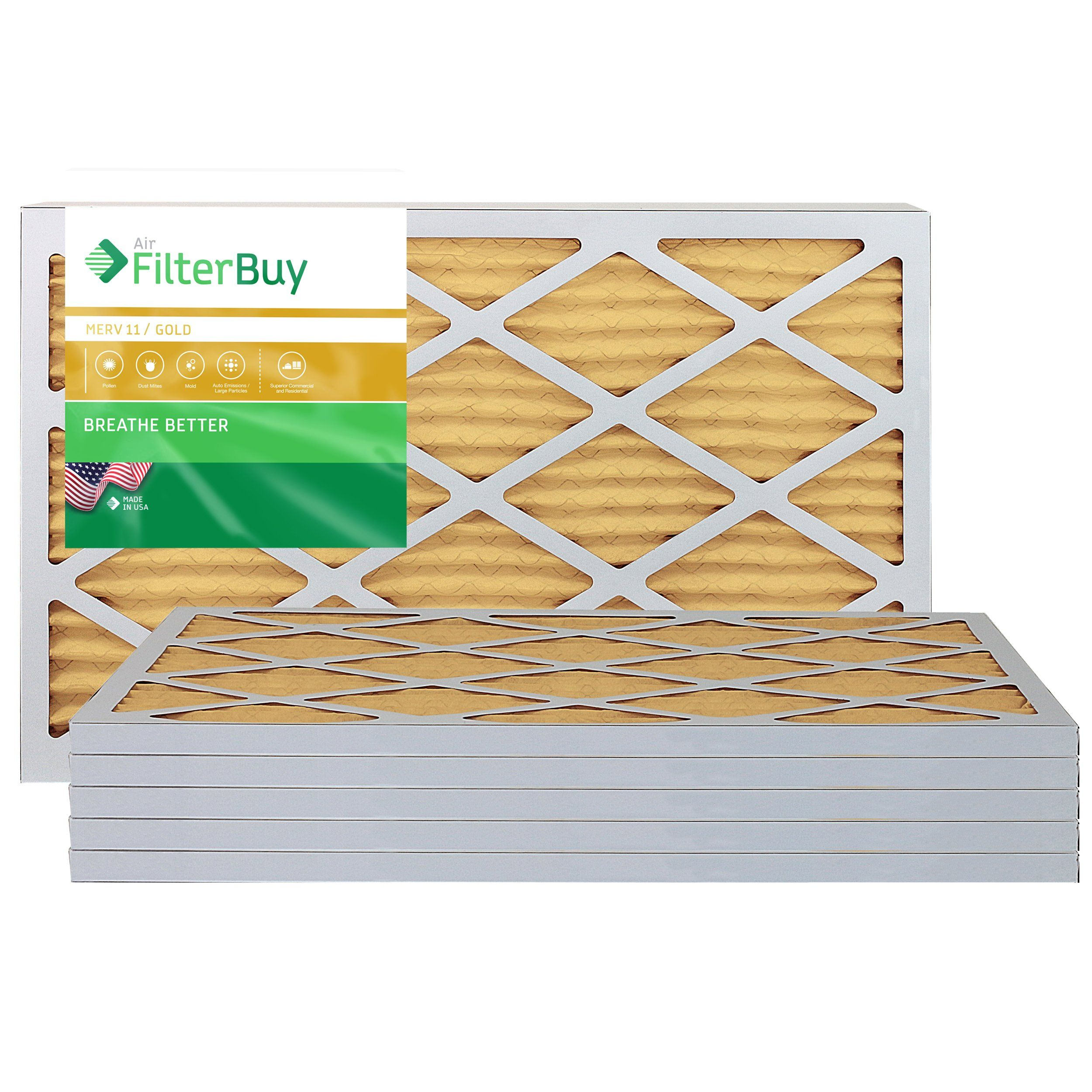 FilterBuy AFB Gold MERV 11 16x25x1 Pleated AC Furnace Air