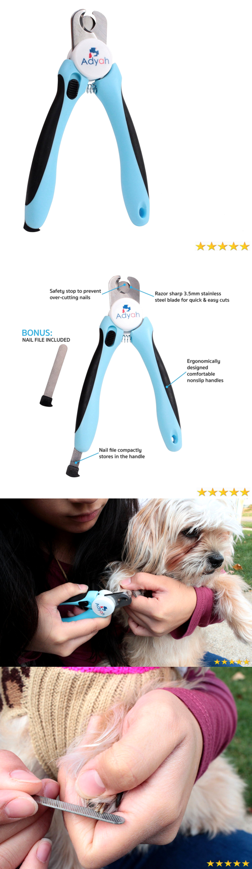 Claw Care Adyah Professional Dog Nail Clippers With Safety