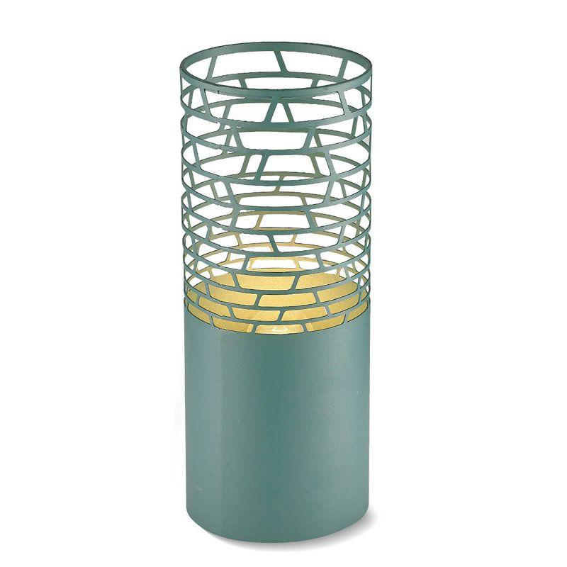 Lampe A Poser Ferronnerie En Acrylique H30 26 36cm Vert Pour Salon