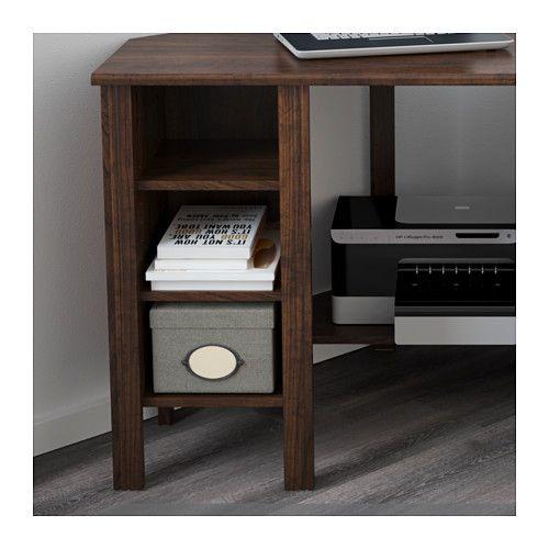 Brusali Corner Desk Brown 47 1 4x28 3 4 Ikea Ikea Desk Corner Desk Ikea