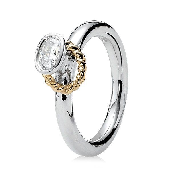 5e33b7c06 Pandora Reminder with Clear CZ & 14K Ring   jewelry   Pandora rings ...