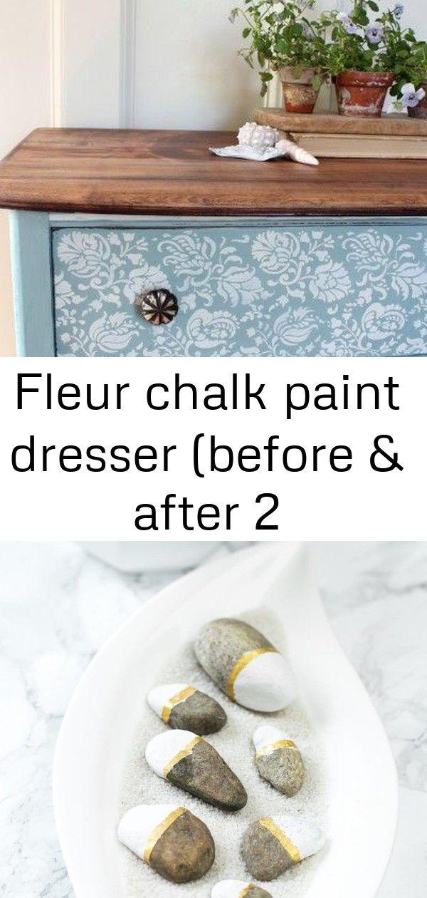 Fleur chalk paint dresser (before & after 2 #steinebemalenanleitung