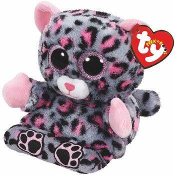 Trixi Leopard Peek A Boo Phone Holder Ty Stuffed Animals 2
