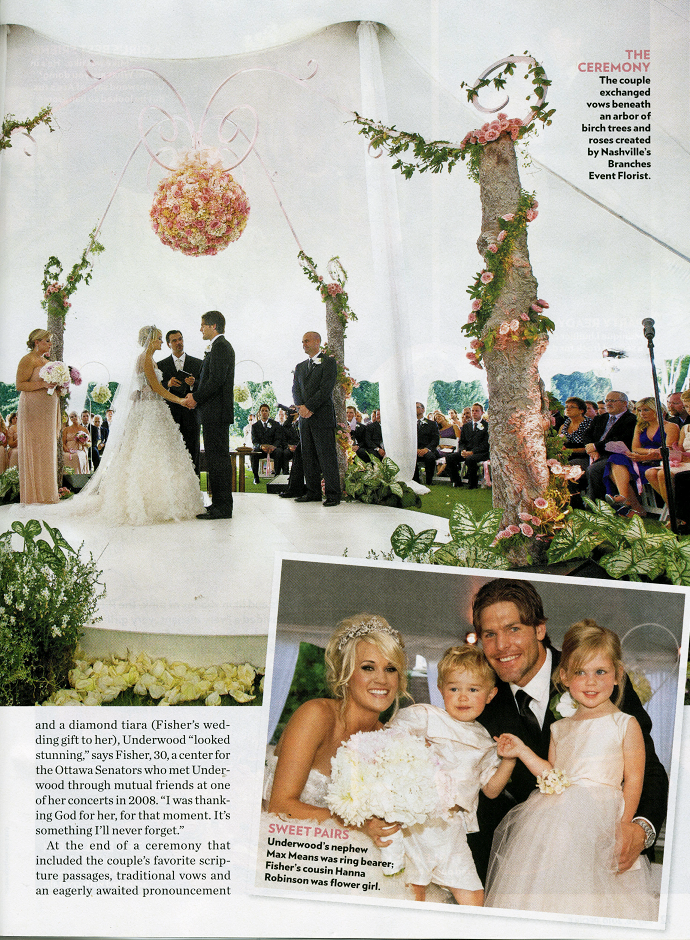 Carrie Underwood's wedding! Bit too OTT for me, but beautiful ...