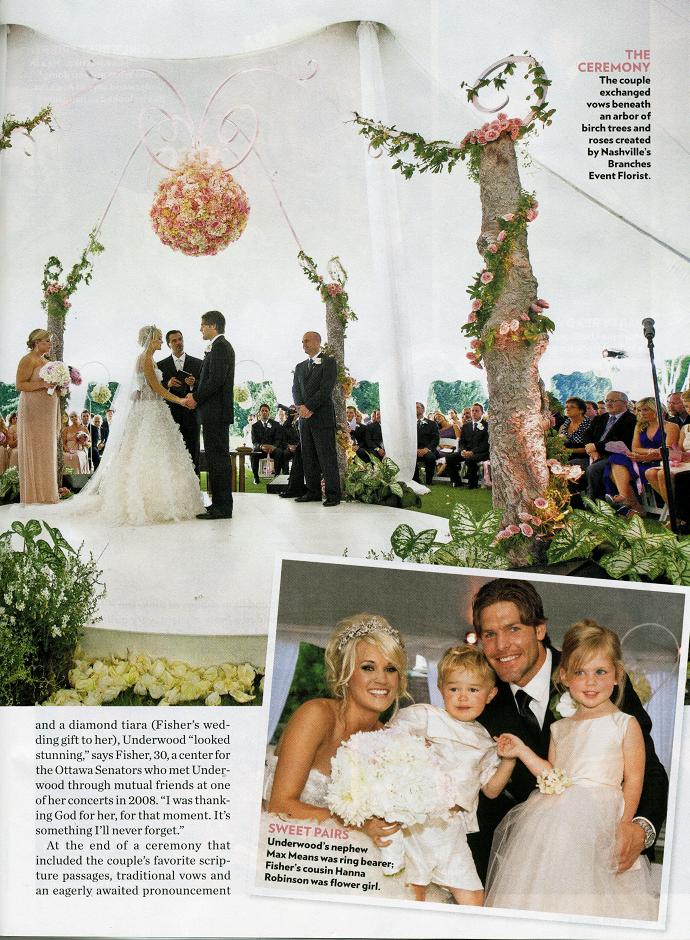 Carrie Underwood's wedding! Bit too OTT for me, but beautiful ...