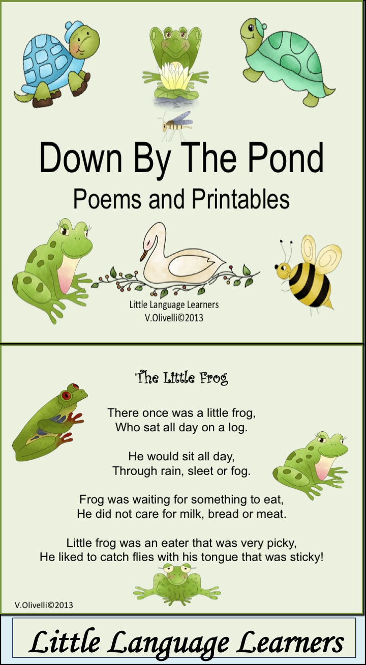 Esl resource pond poems vocabulary and concept for The fish poem