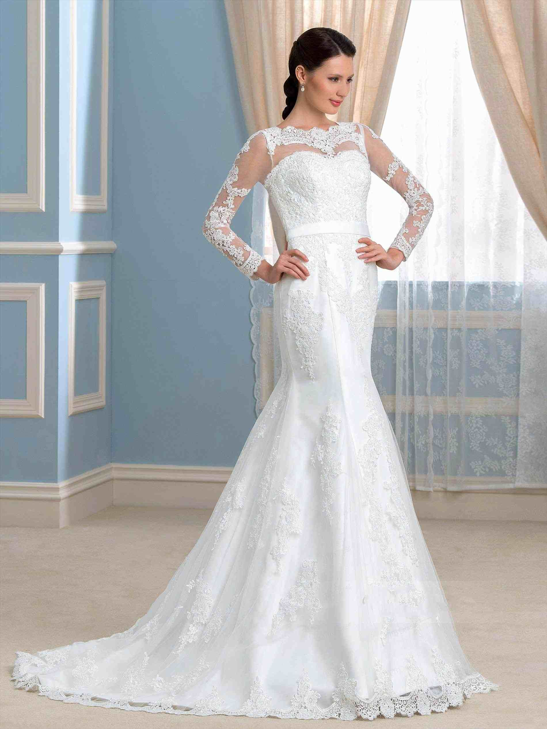 Low back lace mermaid wedding dress  lace mermaid wedding dress low back  Weddings  Pinterest  Lace