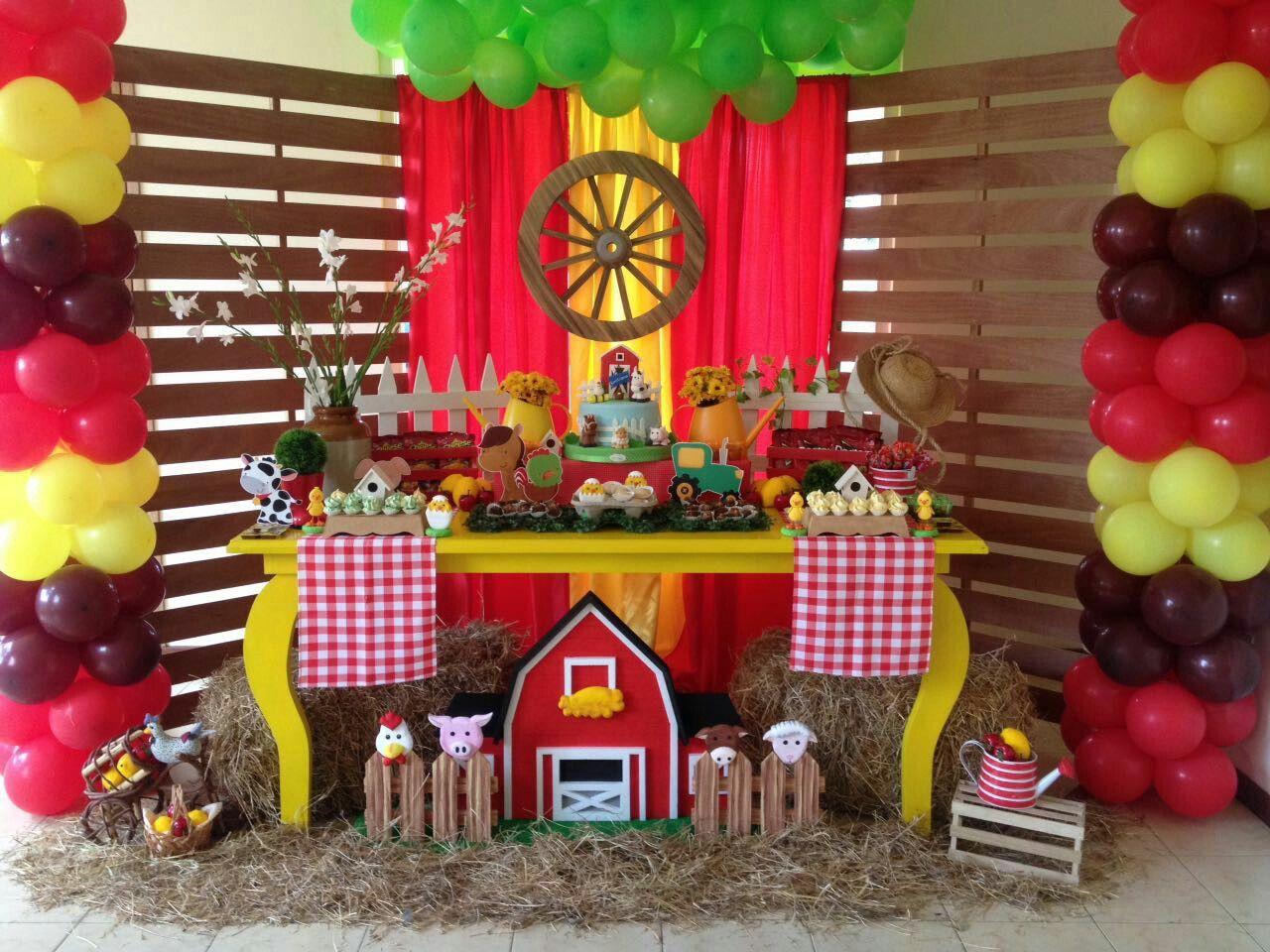 Fiesta Granja Mis Decoraciones En Decopartyc Pinterest  # Muebles Bernardo Leon
