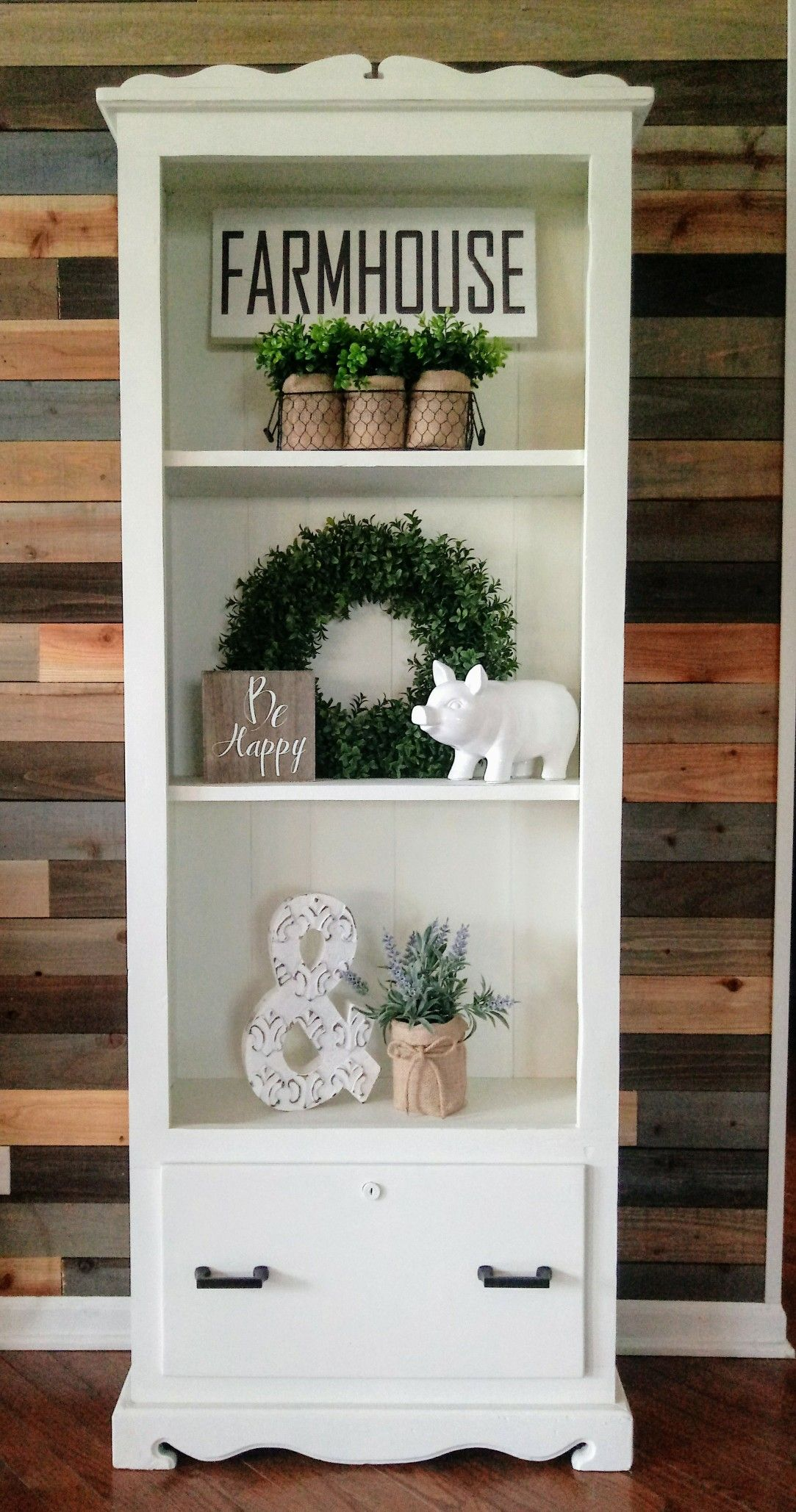 Country Bookshelf Farmhouse Bookshelf Decor Bookshelf Decor Bookcase Decor
