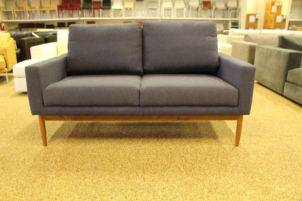 Raleigh Two Seater Sofa Midnight Wool Danish Modern Design Within Reach