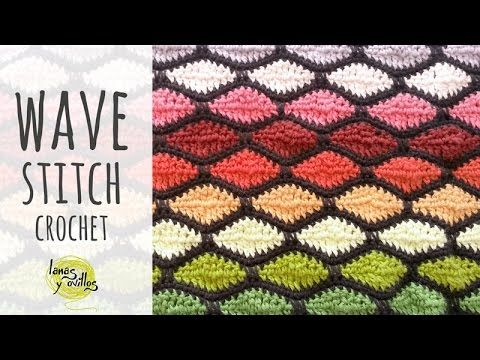 Lanas Y Ovillos In English Youtube Crochet Wave Pattern Crochet Pattern Instructions Crochet Stitches Tutorial