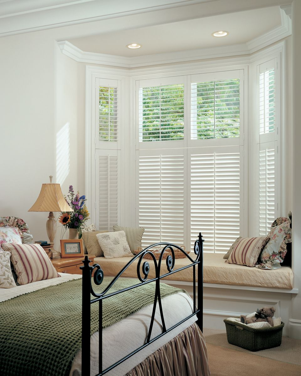 Plantation Shutters, Closed On Bottom, Open On Top, For Front Windows