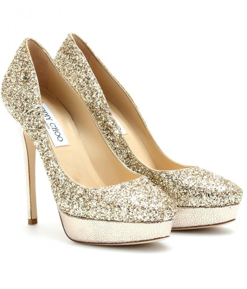 jimmy choo gold cosmic glitter platform pumps wedding ideas my rh pinterest com