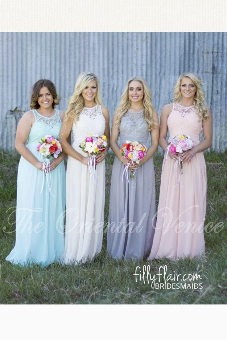 2017 country style cheap bridesmaid dresses grey blue pink ivory 2017 country style cheap bridesmaid dresses grey blue pink ivory lace chiffon expire waist maternity long ombrellifo Choice Image