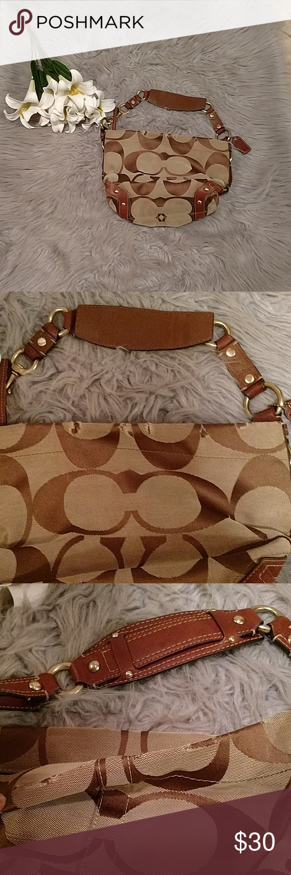 Pictures shown It has some wear by the zipper but overall good condition.  Good project for some one that repair purses.Style number L0673 10619 Coach  ... cc0c26f8b0