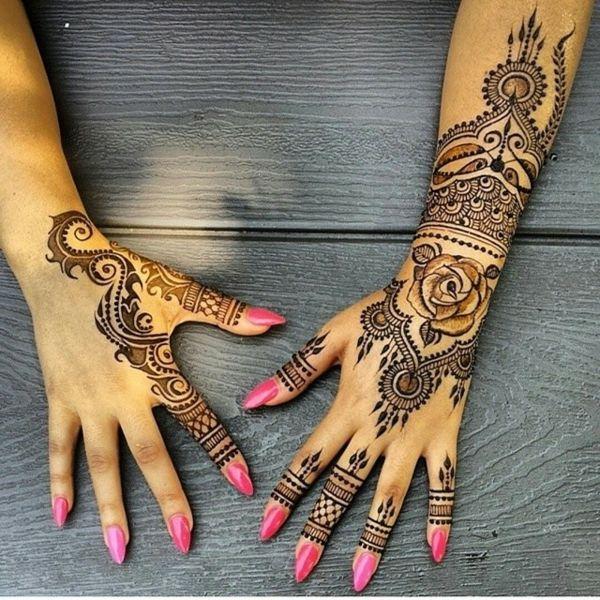 arm tattoos henna muster hnde dekorieren blumen - Henna Tattoo Muster
