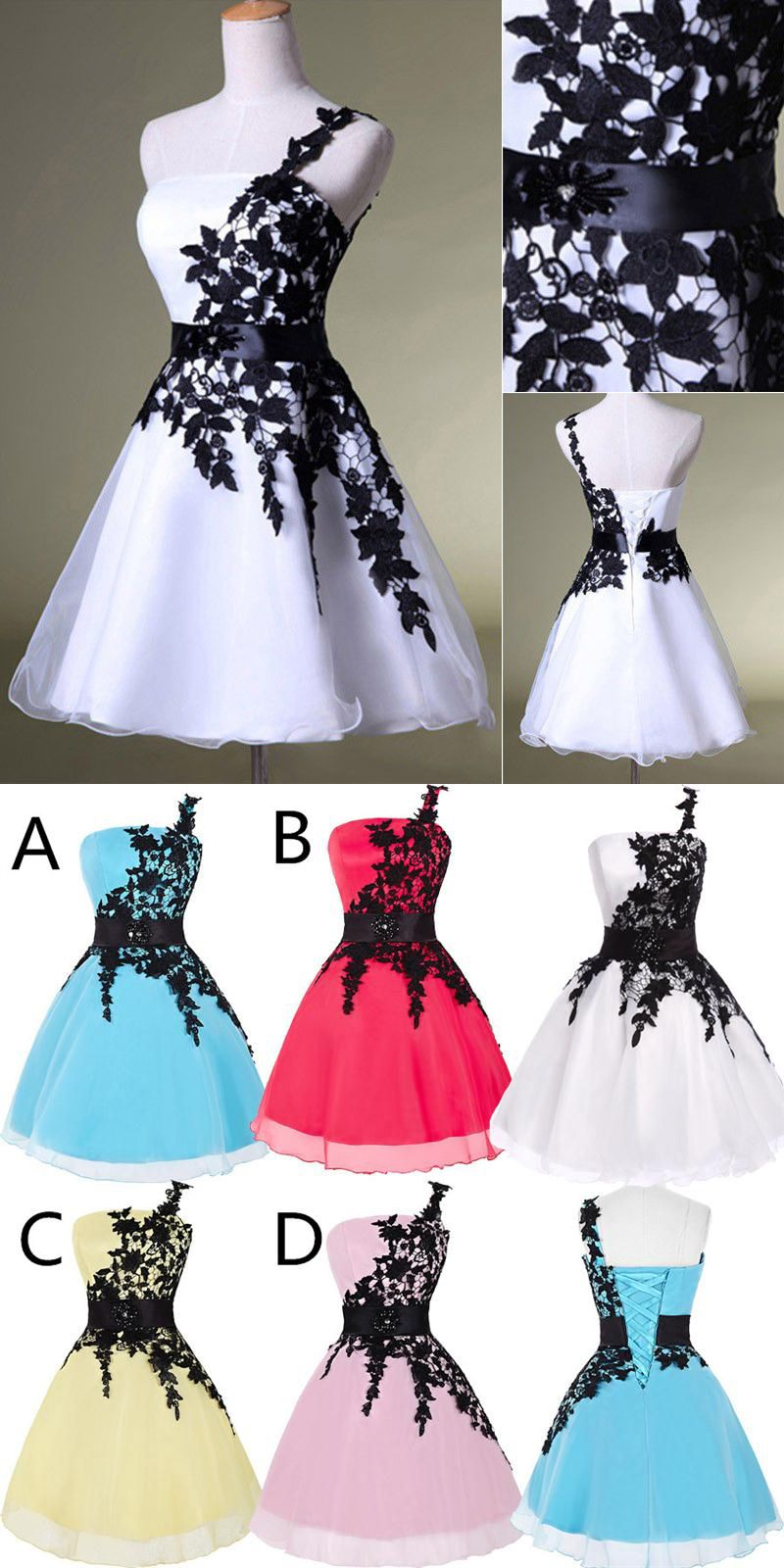 Elegant short ball gown lace prom dresseslace homecoming dresses on