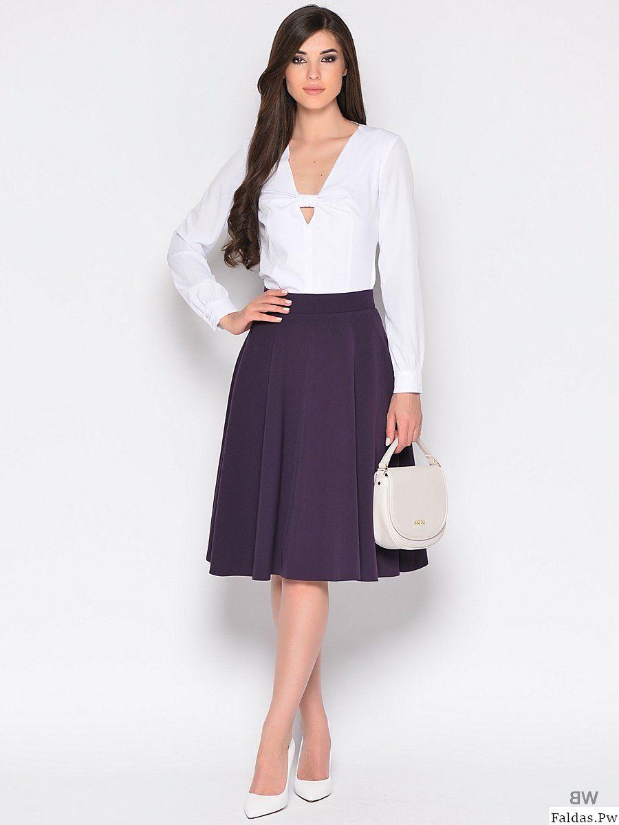 Modelos de falda a la moda | Modelos de Falda | Pinterest | Falda ...