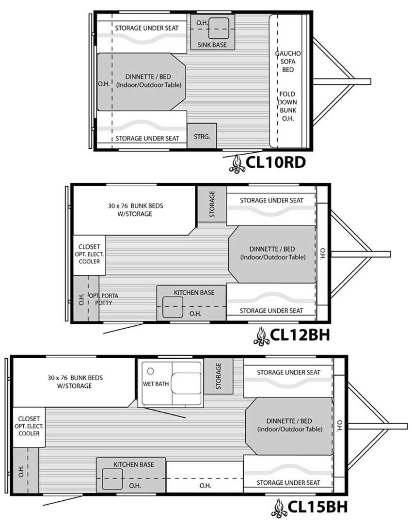 Camplite Travel Trailer Floorplans 3 Are Available Traveller Caravan Wiring Diagram