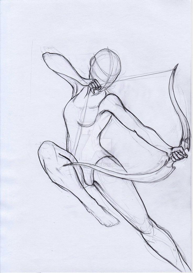 Pose Study Archer von aryaenne.devianta … auf @DeviantArt - Die Kunst des Lernens kennen #pencildrawings
