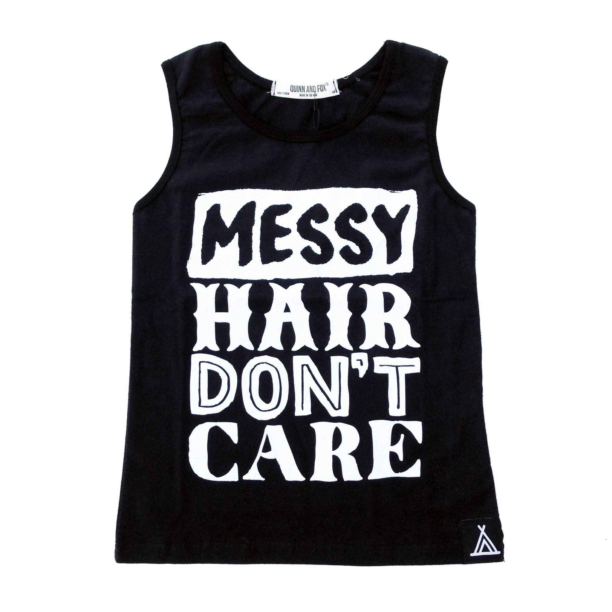 Messy hair dont care Tank from QUINN AND FOX Messy